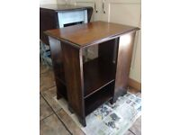 Vintage four sided bookcase bedside coffee table