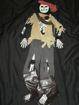 Halloween Costumes Skeleton Pirate (NEW Disney PIRATE SKELETON Halloween GLOW in Dark Costume XS 4 Caribbean)