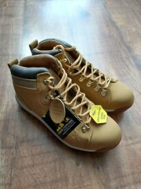 Groundwork Leather Safety Boots with Steel Toe Cap, Size 7