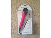 Brand new pink microphone
