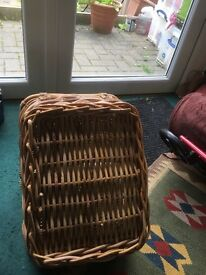 Harrods picnic basket (genuine leather label)