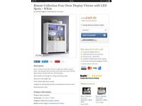 Brand New still boxed Italian white gloss display cabinet with LED remote control mood lighting