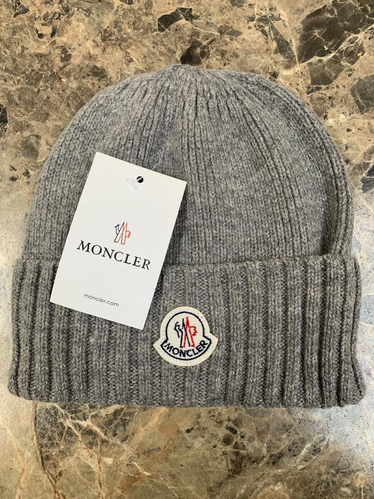 152ff2725f09 Moncler Beanie Hat - Grey