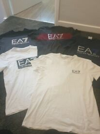 Ea7 T Shirts times 5 size small mens