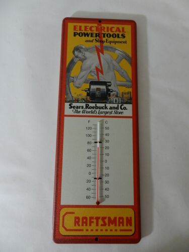 ADVERTISING THERMOMETER- CRAFTSMAN POWER TOOLS- SEARS, ROEBUCK & CO.-GAS STATION