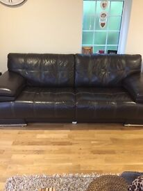 Leather sofa for sale!!Immaculate condition!