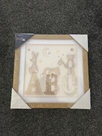 """Brand new """"ABC"""" framed print"""