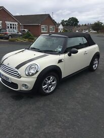 Mini one convertible , lady owner, immaculate condition