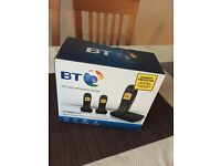 Cordless BT phone trio with answering machine