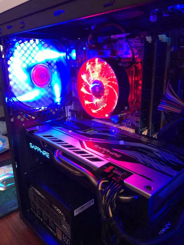 i5 Gaming Pc, intel i5 4590 Cpu, Amd Sapphire Nitro+ Rx 570 4gb Graphics  Card, 16gb Ram, ssd  | in Burton Joyce, Nottinghamshire | Gumtree