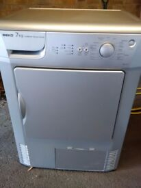 silver 7kg condenser dryer in excellent condition can deliver