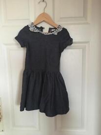 Girls denim dress 1 1/2 - 2 years