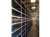 JOB LOT 99 bays Galvenised SUPERSHELF industrial shelving 3.4m high ( pallet racking /storage)