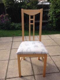 IKEA birch dinning chairs x4