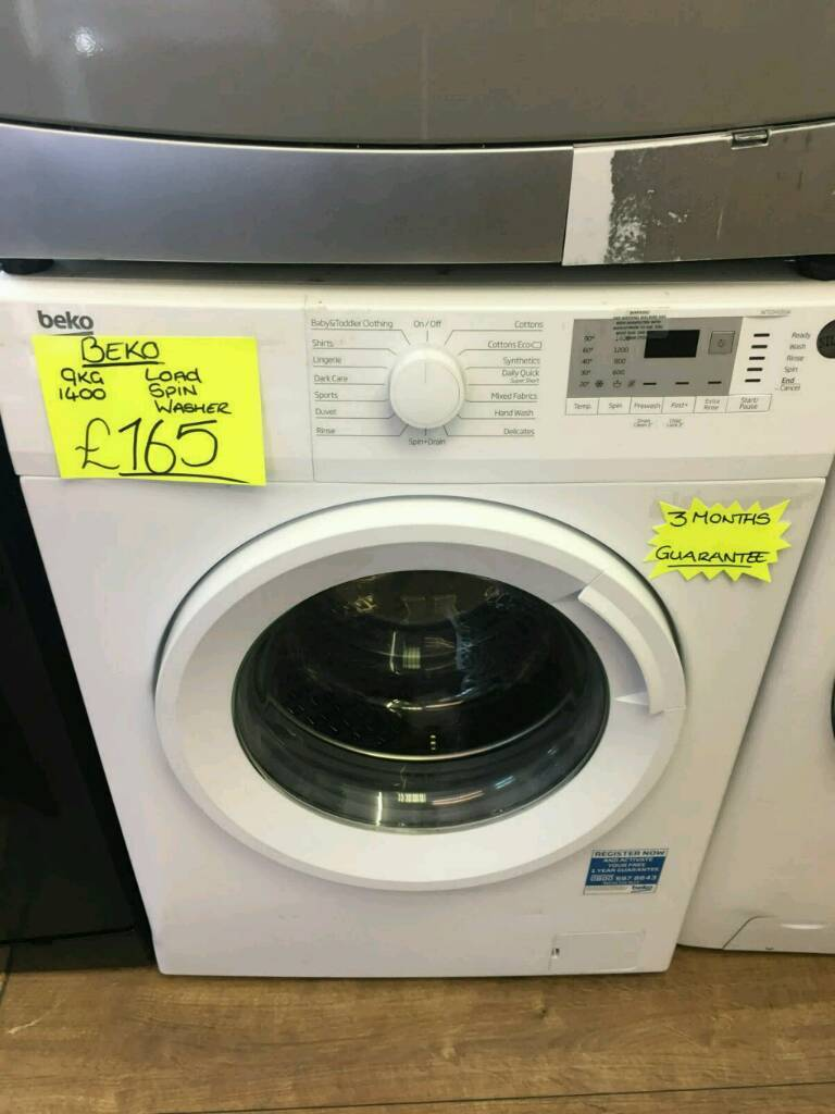 BEKO 9KG 1400 SPIN WASHING MACHINE IN WHITE