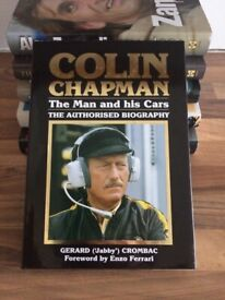 COLIN CHAPMAN THE MAN AND HIS CARS - COLLECTOR QUALITY MOTOR RACING BIOGRAPHY - BY 'JABBY' CROMBAC