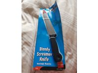 Fancy Dress Bloody Screamer Plastic Knife