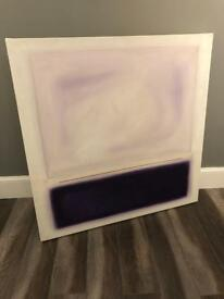 Abstract Purple Wall Art