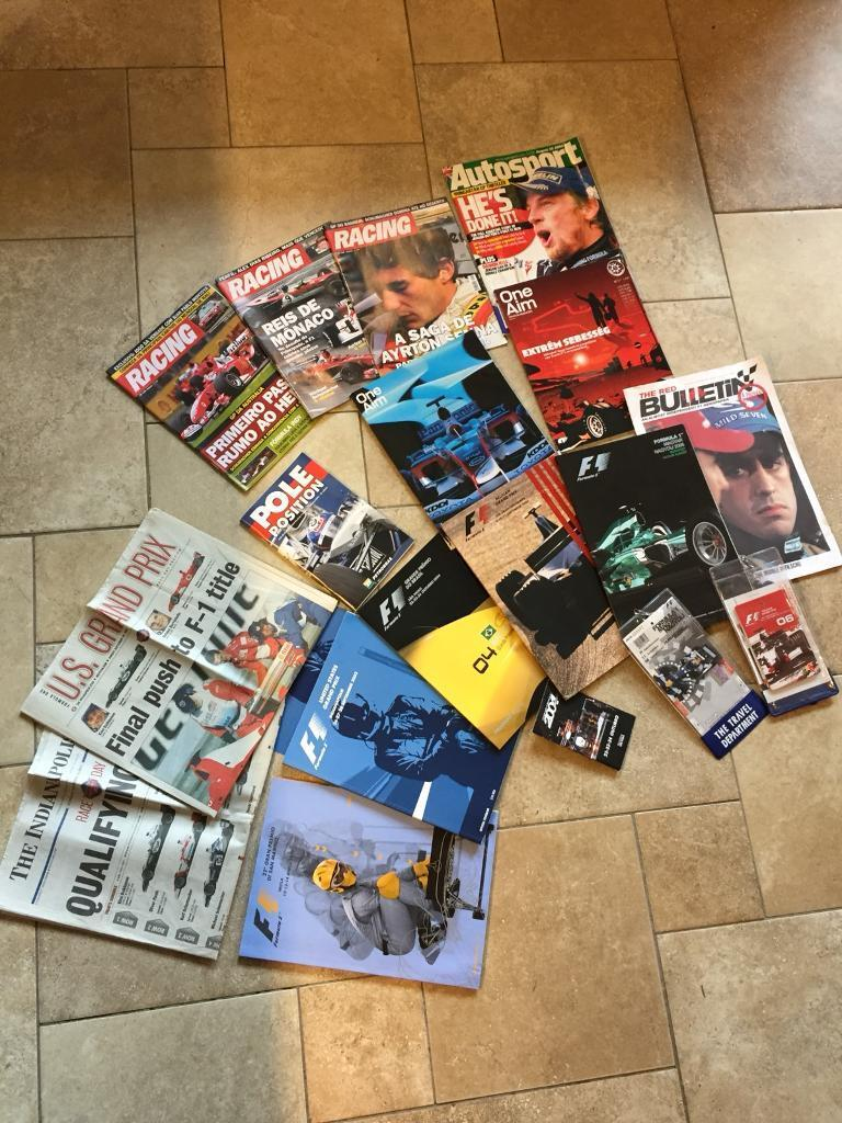 Formula 1 Memorabilia - (Includes 5 Programme Packs) - See Listing & All Photos