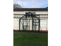 Halls Green Aluminium Greenhouse complete frame only - 6' * 8'