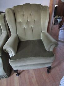 Quality Winged back Chair and matching arm Chair