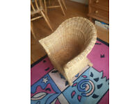 Small wicker child chair