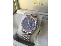 Rolex oyster perpetual datejust blue face