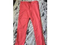 River island skinny hot pink trousers size 14