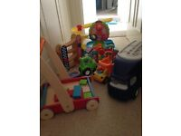 variety of baby and toddler toys (fisher price, little tikes)