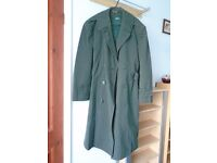 100% WOOL GABARDINE OVERCOAT WITH REMOVABLE LINING
