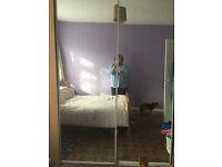 wardrobe mirrored doors for sale
