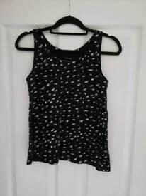 Black and white vest top