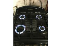 Leisure black gas cooker 60cm