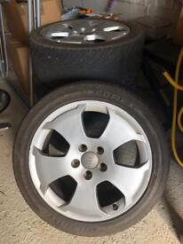 """Genuine Audi 17"""" alloys/tyres x4"""
