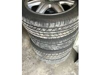 SEAT IBIZA ALLOYS WITH TYRES FOR SALE