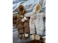 TWO BRAND NEW SNOWSUITS