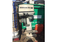 35hp johnson evinrude outboard, needs a little tlc