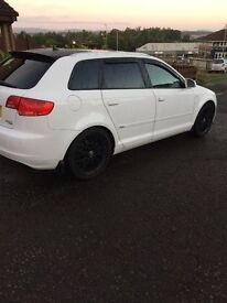 Part ex Audi A3 Quattro s line sport back 5 door white looking for Range Rover