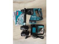 Makita DHR242Z 18V LXT Brushless SDS Plus Rotary Hammer Drill, 2 x %ah Batteries & Charger