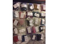Job Lot Of 24 Bags Loose Gem Stone Beads For Jewellery Making Or Crafts