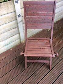 Wooden deck chair