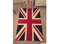 Union Jack Rug 100% wool 120x180cm