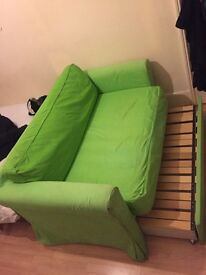 Beautiful green Sofa Bed. Good quality, very comfortable, great condition. 2 seater.