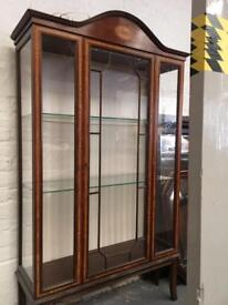 ** LARGE WALNUT CHINA CABINET - CAN DELIVER **