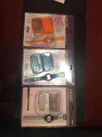 6 lots of databank and digital watch
