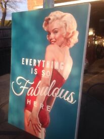 Vintage Marilyn canvas