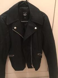 Girls faux leather jacket 12-13 years