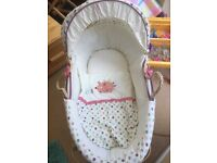 Moses basket - hardly used, in excellent condition
