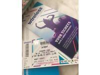 Wireless festival Saturday ticket X3