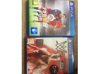 Fifa 16 and WWE 2K15